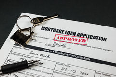 A aplicação de empréstimo hipotecário aprovou 003 Imagem de Stock Royalty Free