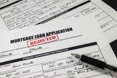 A aplicação de empréstimo hipotecário rejeitou 001 Fotografia de Stock Royalty Free
