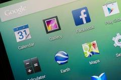 Aplicação de Facebook Imagens de Stock