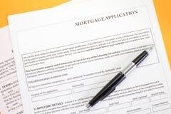 Aplicação de hipoteca Foto de Stock
