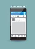 Aplicação de serviço com suporte na internet da rede social no telefone esperto Imagem de Stock Royalty Free