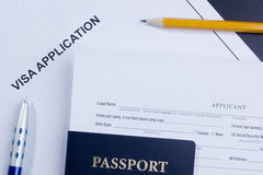 Aplicação de visto Foto de Stock Royalty Free
