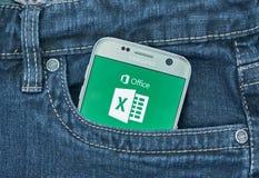 Aplicação do androide de Microsoft Excel Fotos de Stock