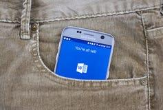 Aplicação do androide de Microsoft Word Fotos de Stock Royalty Free