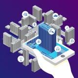 Aplicação do conceito do vetor - construção inteligente ilustração stock