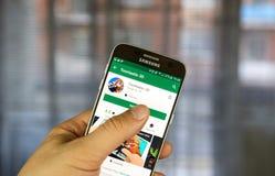 Aplicação do móbil de Google Adsense Fotos de Stock