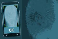 Aplicação do Mobile Security fotografia de stock royalty free