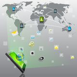Aplicação móvel Fotografia de Stock Royalty Free
