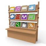 Aplicação/venda/compra Foto de Stock Royalty Free