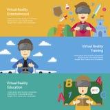 Aplicações da realidade virtual Fotografia de Stock Royalty Free
