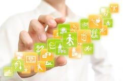 Aplicações da saúde Imagens de Stock Royalty Free