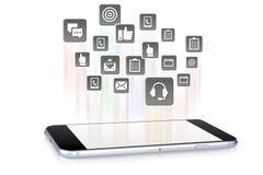 Aplicações de Smartphone que saem Fotos de Stock Royalty Free