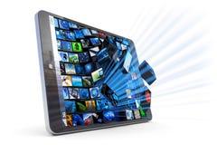 Aplicações do PC da tabuleta Foto de Stock