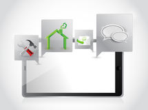 Aplicações e ferramentas da tabuleta. projeto da ilustração Fotos de Stock Royalty Free