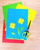 Aplicações e tesouras das crianças engraçadas Fotos de Stock Royalty Free