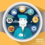 Aplicações espertas do relógio Imagem de Stock Royalty Free