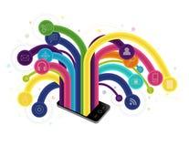 Aplicações móveis Foto de Stock Royalty Free