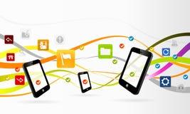 Aplicações móveis ilustração royalty free