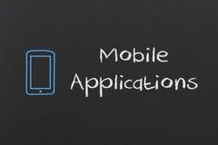 Aplicações móveis ilustração do vetor