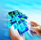 Aplicações no móbil ilustração do vetor