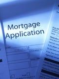 Aplicación de hipoteca Foto de archivo