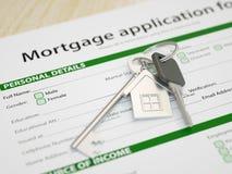 Aplicación de hipoteca Foto de archivo libre de regalías