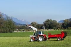 Aplicación de los fertilizantes Imagen de archivo libre de regalías