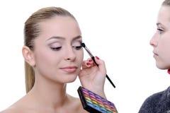 Aplicación de maquillaje imágenes de archivo libres de regalías