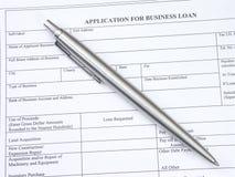 Aplicación de préstamo de asunto Fotografía de archivo