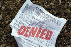 Aplicación de préstamo rechazada Imagen de archivo libre de regalías
