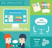 Aplicación de trabajo stock de ilustración