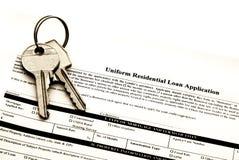 Aplicación del préstamo hipotecario fotos de archivo