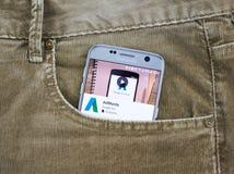 Aplicación móvil de Google Adwords Imágenes de archivo libres de regalías