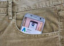 Aplicación móvil de Google Adwords Fotografía de archivo libre de regalías