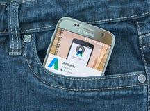 Aplicación móvil de Google Adwords Fotografía de archivo