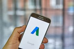 Aplicación móvil de Google Adwords Imagen de archivo libre de regalías