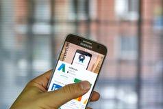 Aplicación móvil de Google Adwords Imagen de archivo