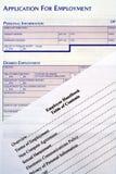 Aplicación para el empleo y el manual de empleado Foto de archivo libre de regalías
