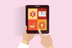 Aplicación web para los profesionales de la atención sanitaria Imagen de archivo libre de regalías