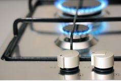 Aplicación de cocina del gas natural Imágenes de archivo libres de regalías
