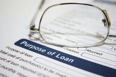 Aplicación de préstamo personal Imagen de archivo libre de regalías