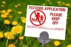 Aplicación del pesticida Fotos de archivo