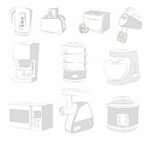 Aplicaciones de cocina stock de ilustración