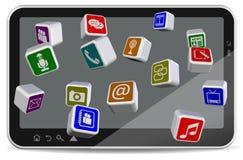 Aplicaciones de la PC de la tablilla Foto de archivo