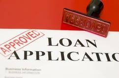 Aplicaciones de préstamo Foto de archivo