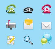 Aplicaciones e iconos de los servicios Imagen de archivo libre de regalías