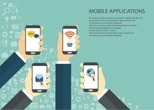 Aplicaciones móviles Fotografía de archivo