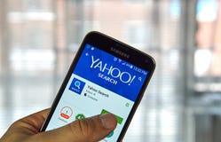 Aplicaciones móviles de Yahoo Search Imagen de archivo libre de regalías