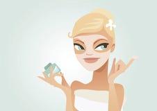 Aplicando a máscara Foto de Stock Royalty Free