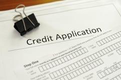 Aplicação de crédito Imagem de Stock Royalty Free